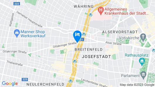 Boutique Hotel Donauwalzer Map