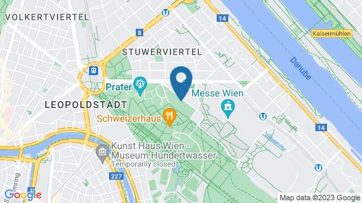 Superbude Wien Prater Map
