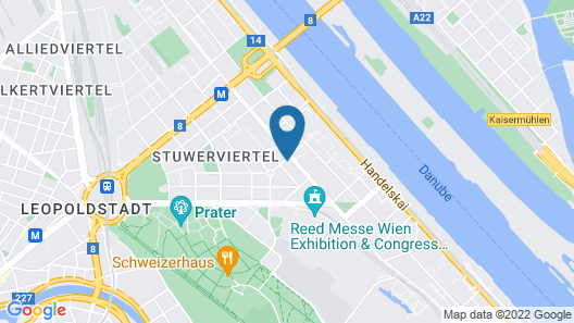 Abieshomes Serviced Apartments - Messe Prater Map