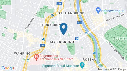 H+ Hotel Wien Map