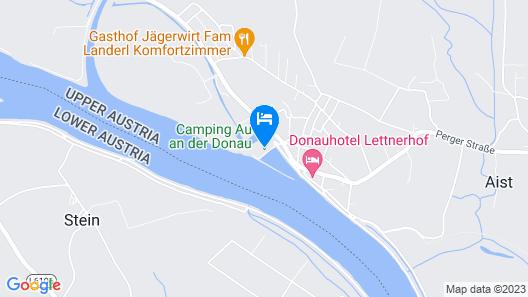 Camping & Pension Au an der Donau Map