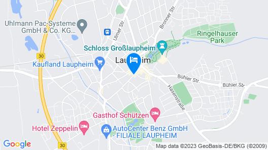 AKZENT Hotel Laupheimer Hof Map