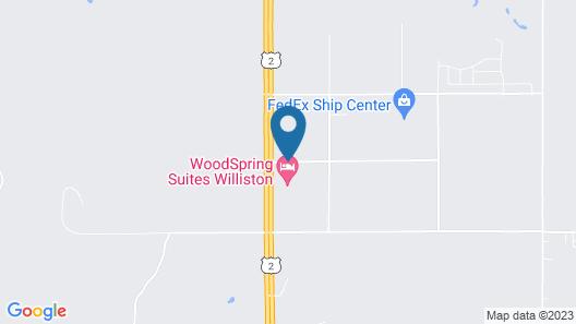 WoodSpring Suites Williston Map