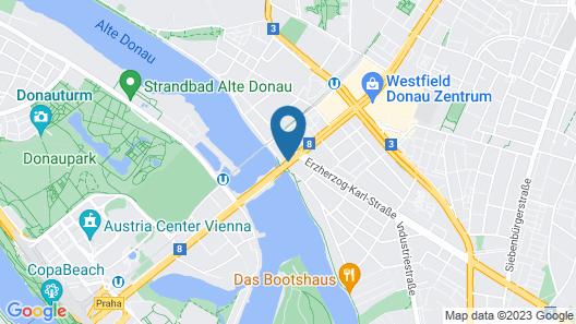 Strandhotel Alte Donau Map