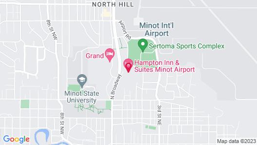 Hampton Inn & Suites Minot Airport, ND Map