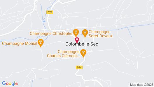 Maison d'hotes La Colombelle Map
