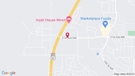 HYATT house Minot Map
