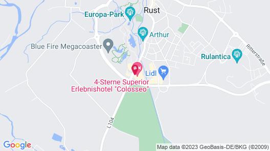 Europa-Park Freizeitpark & Erlebnis-Resort, Hotel Colosseo Map