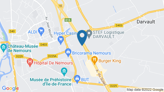 HotelF1 Nemours Hotel Map
