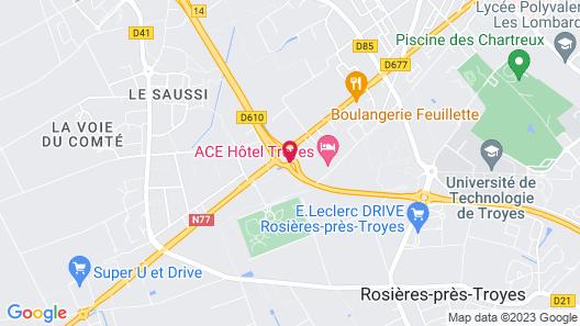 ACE Hôtel Troyes Map