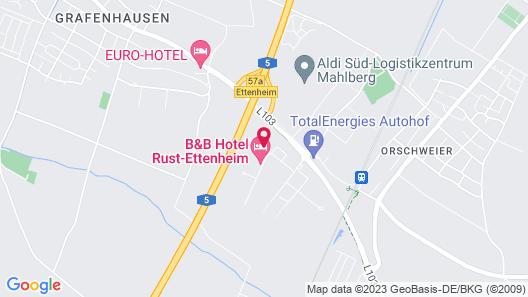B&B Hotel Rust-Ettenheim Map
