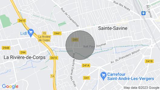 Gîte Climatisé 4/6 Pers. à Troyes / Sainte Savine Map