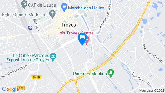 Mercure Troyes Centre Map