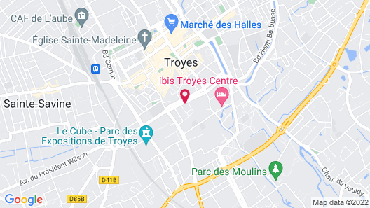 ibis budget Troyes Centre Map