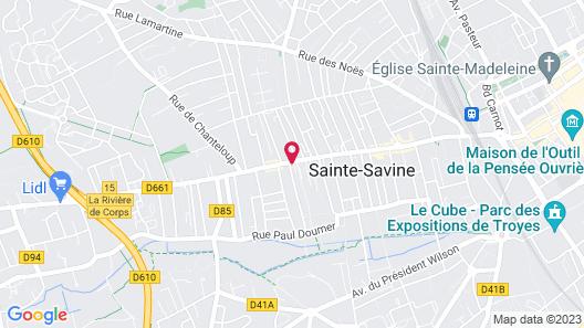 A l'Aube de Troyes Map