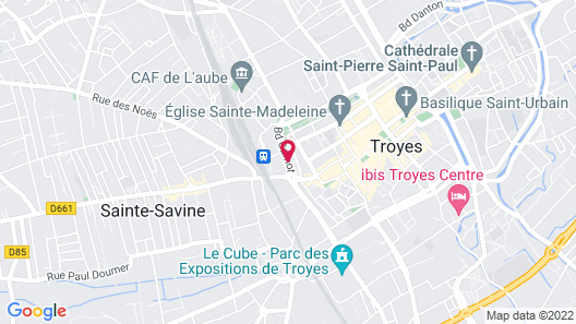 Brit Hotel Le Royal - Troyes Map