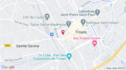 Appart'Hotel Hotel Saint Georges Map