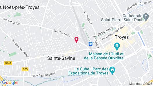 Au fil de Troyes Map