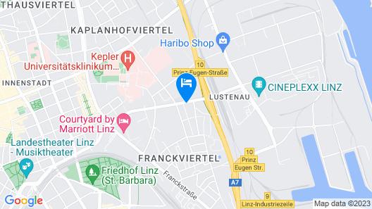 AMEDIA Hotel Linz Map