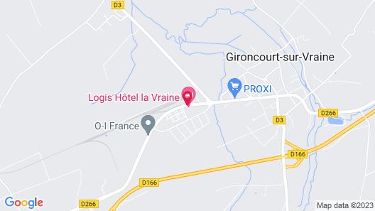Hotel La Vraine Map