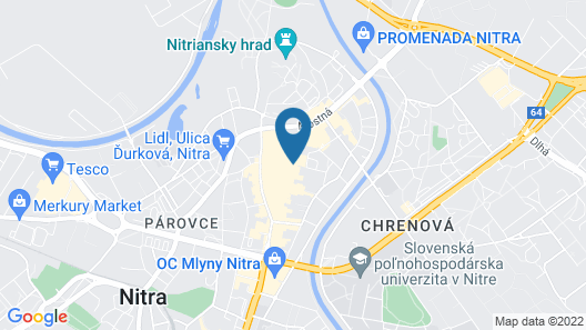 Hotel Zobor Map