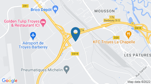 B&B Hotel Troyes Barberey Map
