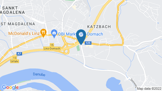Harry's Home Hotel Linz Map