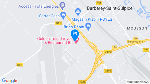 Golden Tulip Troyes Map