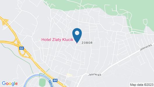 Boutique hotel Zlatý Kľúčik Map