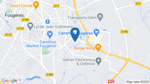 Hotel Campanile Fougeres Map