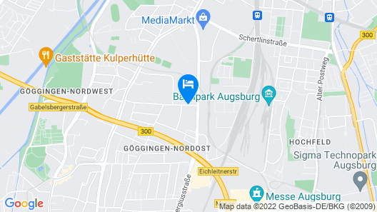 Arthotel ANA Living Augsburg Map