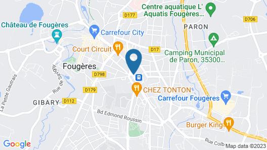Hotel De Bretagne - Fougeres Map