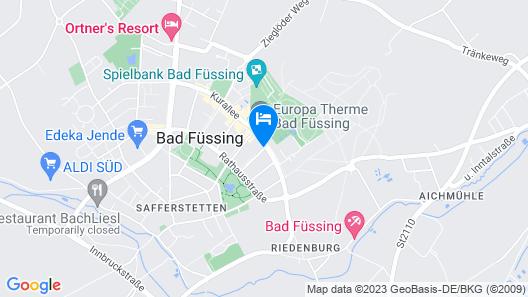Johannesbad Hotel Königshof Map