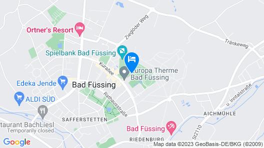 Hotel Frechdachs Map