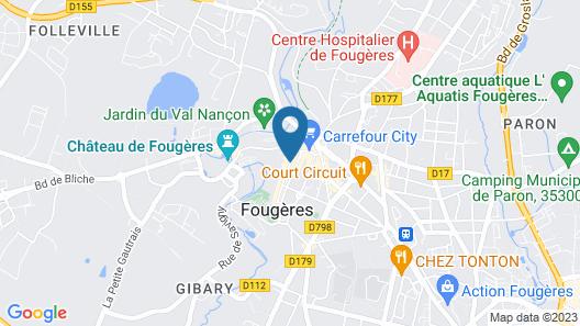 Balzac Hôtel Map