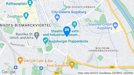 Holiday Inn Express Augsburg Map