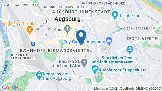 Drei Mohren Hotel Map