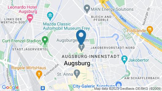 Dom Hotel Augsburg Map
