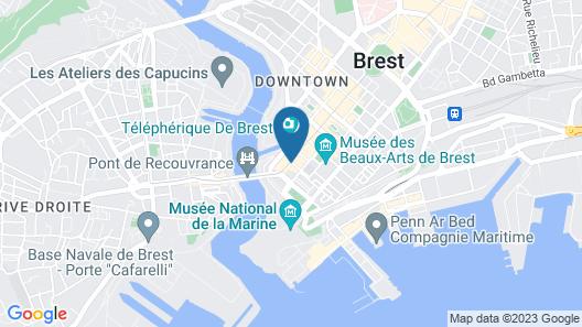 Hôtel ibis Brest Centre Map