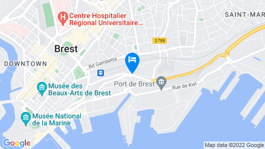 Appart Cosy Brest vue mer Map