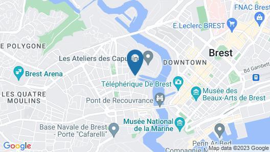 Appart Cosy Brest Les Capucins Map