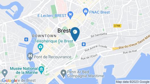 Citôtel Brest Centre Gare Map