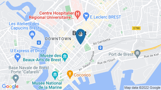 Brest hypercentre studio, well equipped and quiet Map