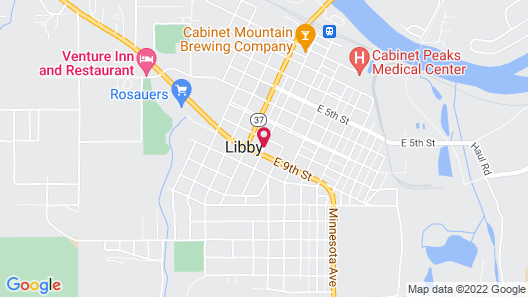 Evergreen Motel Map