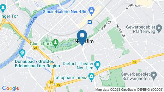 B&B Hotel Neu-Ulm Map