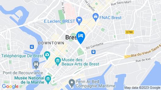Hotel Mercure Brest Centre Les Voyageurs Map