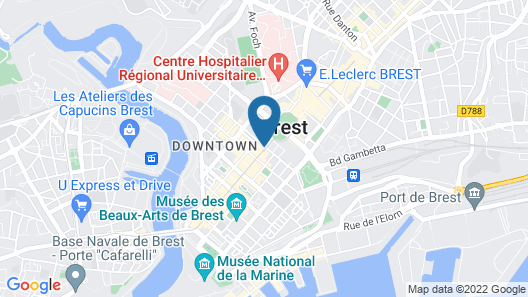 Oceania Brest Centre Map
