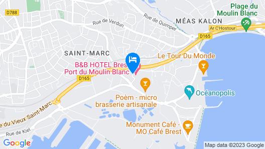 B&B Hotel Brest Port Map