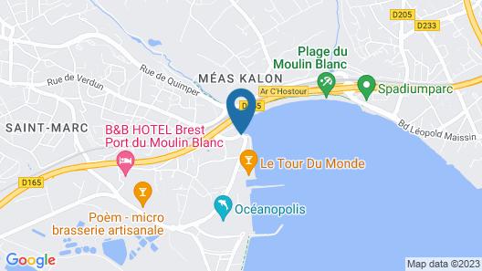 Couett' Hôtel Brest Map