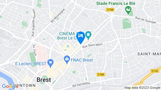 Kyriad Brest Centre Map
